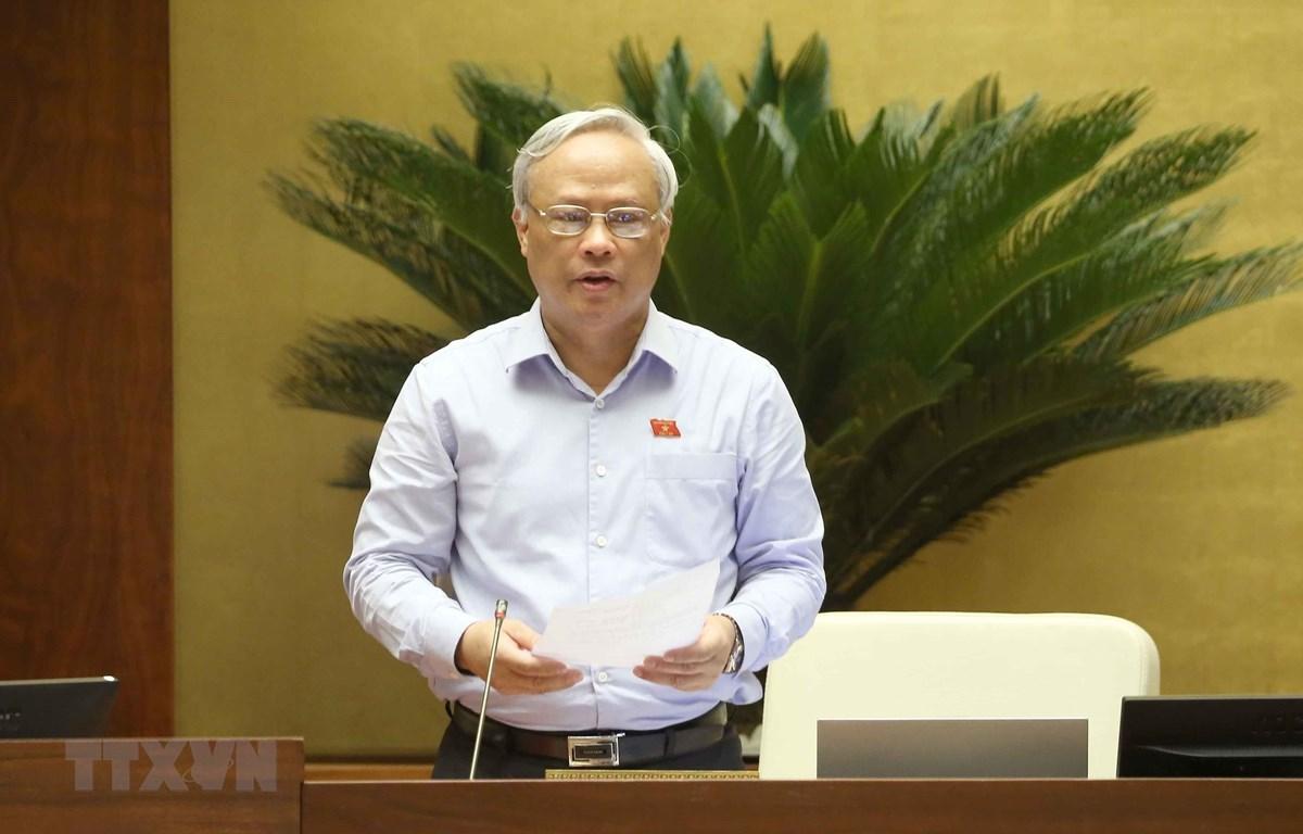 Заседание проводит заместитель председателя Национального собрания Уонг Тью Лыу. (Фото: Зоан Тан / ВИА)