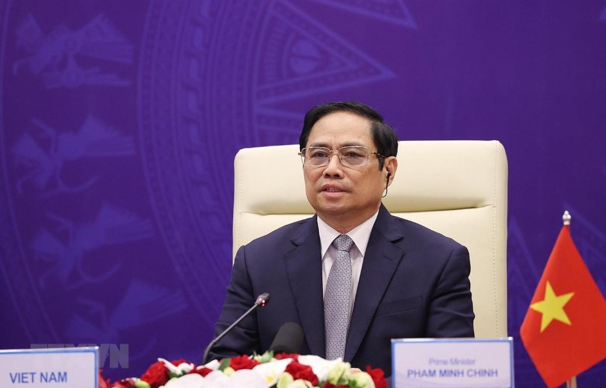 Премьер-министр Фам Минь Тьинь принял участие в открытой дискуссии на высоком уровне Совета Безопасности ООН. (Фото: Зыонг Жанг / ВИА)