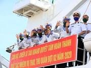 Рабочая делегация от 4-го военно-морского района отправляется в Чыонгша