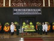 Церемония прощания с бывшим вице-премьером Чыонг Винь Чонг на государственном уровне