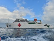 Корабль 561 - мобильный современный госпиталь в Восточном море