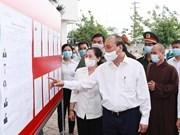 Президент Вьетнама провел рабочее совещание в уездах Кутьи, Хокмон города Хошимин