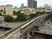 Испытательный пробег поезда городской железнодорожной линии Ньон- железнодорожный вокзал Ханой