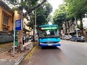 Автобусы в Ханое были практически пустыми в первый день после восстановления работы общественного транспорта