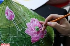 Картины на листьях лотоса