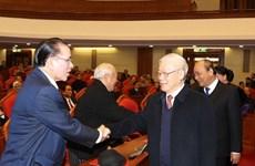Политбюро провело встречу с бывшими руководителями Партии и Государства