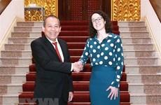 Заместитель премьер-министра принял министра федеральной земли Гессен в Германии