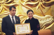 VUFO наградило посла Азербайджана за развитие связей между Вьетнамом и Азербайджаном