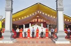 Торжественное открытие храма памяти дяди Хо и павших героев провинции Куангбинь