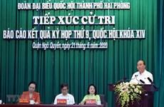 Премьер-министр встретился с избирателями в Хайфон