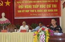 Председатель НС встретилась с избирателями в Кантхо