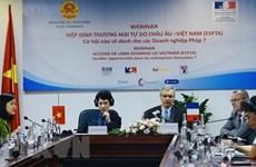 Вебинар ищет способы для компаний Вьетнама и Франции заработать на EVFTA