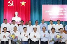 Премьер-министр провел рабочую встречу с местностями дельты Меконга