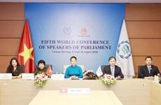 Выступление председателя НС Нгуен Тхи Ким Нган на семинаре по актуальности изменения климата