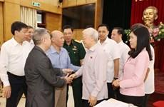 Генсекретарь КПВ встретился с избирателями из Ханоя в преддверии 10-й сессии НС
