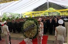 Церемония прощания с офицерами и солдатам, погибшими в результате оползня в Тхыатхиен-Хюэ