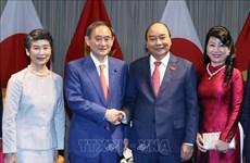 Японские СМИ освещают визит премьер-министра Суги Йосихиде во Вьетнам