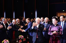 Генеральный секретарь ЦК КПВ и президент Вьетнама Нгуен Фу Чонг принял участие в церемонии отмечания 90-й годовщины создания Национального объединенного фронта освобождения Вьетнама