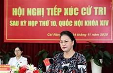 Председатель НС Вьетнама встретилась с избирателями в г. Кантхо