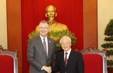 Высший партийный руководитель Вьетнама высоко оценивает вклад посла США в отношения Вьетнама и США