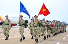 Вторая группа персонала для вьетнамского полевого госпиталя №3 2-го уровня отправляется в Южный Судан