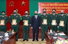 Президент страны проинспектировал боеготовность в 7-м военном округе