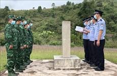 Двусторонний пограничный патруль между Вьетнамом и Китаем в провинции Дьенбьен