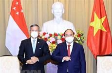 Президент государства Нгуен Суан Фук принял министра иностранных дел Сингапура