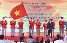 Вьетнамская делегация отправилась на Олимпийские игры 2020 в Токио