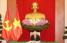 Генеральный секретарь Нгуен Фу Чонг провел телефонный разговор с президентом Республики Корея Мун Че Ином