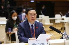 WCSP 5: Выонг Динь Хюэ выступает с речью о мерах реагирования на пандемию COVID-19 и изменение климата