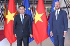 Председатель Национального собрания Выонг Динь Хюэ имел встречу с председателем Европейского Совета