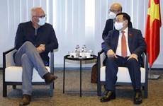 Председатель НC Выонг Динь Хюэ принял председателя партии труда Бельгии