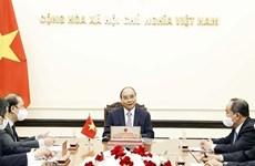 Президент Нгуен Суан Фук провел телефонный разговор с премьер-министром Японии Ёсихидэ Сугой