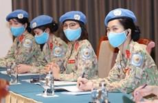 Предоставление женщинам возможности более активно участвовать в решении вопросов глобального мира и безопасности