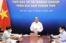 Президент Нгуен Суан Фук встретился с предпринимателями-избирателями в Хошимине