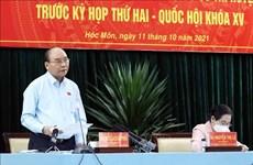 Президент Нгуен Суан Фук: Правильно понять термин «противоэпидемическая крепость», чтобы не допустить «глухого блокирования»