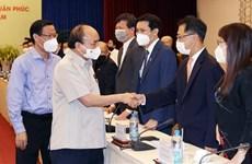 Президент Нгуен Суан Фук встретился с Вьетнамской ассоциацией молодых предпринимателей