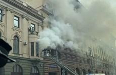 В результате пожара в московском торговом представительстве Вьетнама никто не пострадал