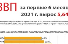 ВВП за первые 6 месяцев 2021 года вырос 5,64%