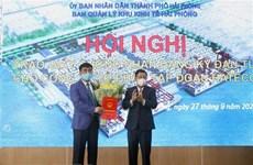Хайфон предоставил инвестиционный сертификат на строительство терминала
