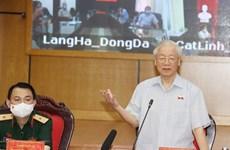 Генеральный секретарь партии встретился с избирателями Ханоя в преддверии второй сессии 15-го Национального собрания