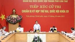Премьер-министр Фам Минь Тьинь встретился с избирателями в городе Кантхо