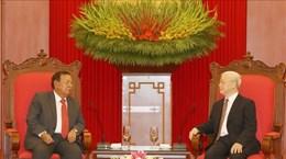 Генеральный секретарь ЦК КПВ, Президент Вьетнама принял Генерального секретаря НРПЛ, Президента Лаоса  