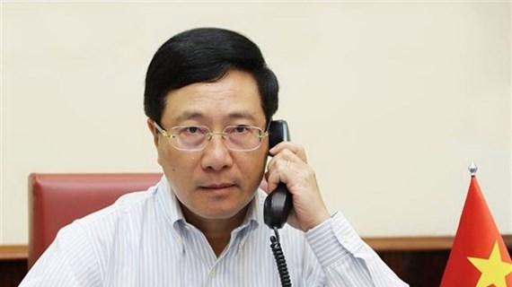 Вице-премьер Фам Бинь Минь провел телефонный разговор с госсекретарем США