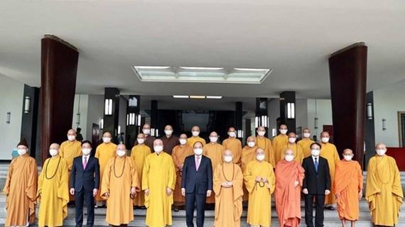 Президент страны принял лидеров буддийской сангхи Вьетнама