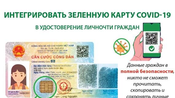 Интегрировать зеленную карту COVID-19 в удостоверение личности граждан