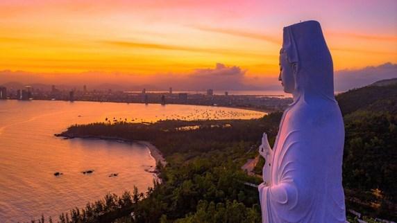 Вид на Центральный Вьетнам сверху