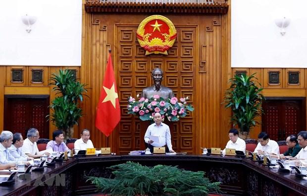 Премьер-министр председательствовал на заседании Социально-экономического подкомитета по подготовке к 13-му съезду КПВ hinh anh 1