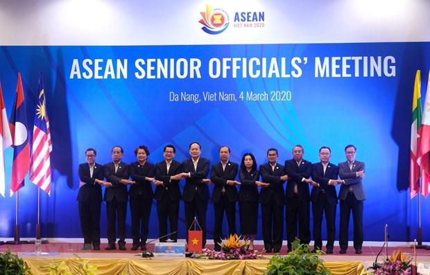 Открытие встречи старших должностных лиц АСЕАН в Дананге hinh anh 1